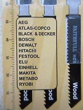 5 x JIG SAW BLADES, FAITHFULL JBT119B, WOOD, PACKET OF 5, FAIJBT119B