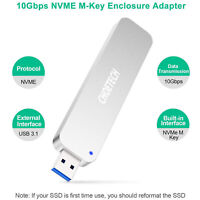 USB 3.1 to M.2 PCI-E NVMe Adapter for M-Key M.2 SSD 2230/2242/2260/2280 Drive