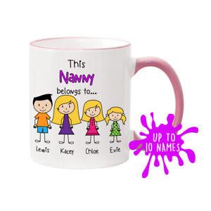 Nanny Mug Nanny's Family Mug Personalised Mug Mother's Day Mug Nanny gift