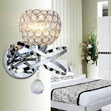 Modern LED Crystal Wall Lamp Sconce Light Bedside Hallway Fixture Home Decor