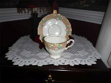Plant Tuscan china matching tea cup and saucer with gold trim 6424