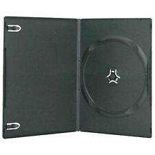 100 x singolo Slimline DVD CASE NERO 7mm DORSO-confezione di 100