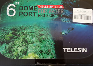 """Telesin Dome Port 6"""" ++ Kuppel Tasche für GoPro Hero 2018 ++ Set ++ NEU/OVP"""