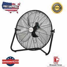 20 Inch High Velocity Fan Commercial Industrial Grade 3-Speed Floor Fan 360 Tilt