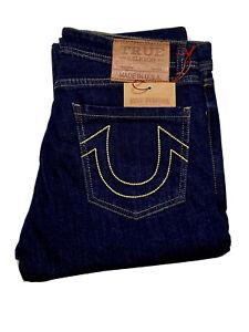 Men's True Religion Slim Stretch Blue Jeans (W30-W38)  Leg 32. RRP £195
