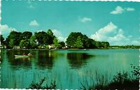 Vintage Postcard - Lake With Boat Fishing/Camps - Parrsboro Novo Scotia  #2230