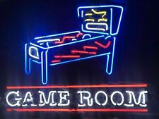 "New Pinball Machine Game Room Neon Light Sign 24""x20"" Lamp Poster Real Glass"