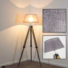 Stehleuchte Design Boden Leuchten Holz Stand Lampen Wohn Zimmer Lese Licht Stoff