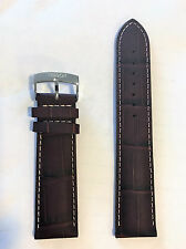 Original Tissot V8 Brown Leather 22mm Strap Band for T361316A T039417A T106417A