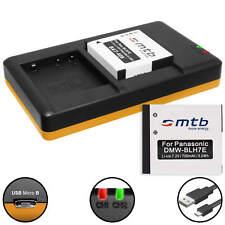 2 Akkus + Dual-Ladegerät DMW-BLH7 für Panasonic Lumix DMC-GF7,Lumix DMC-GM1, GM5