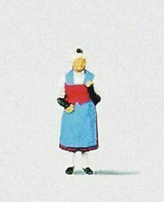 Preiser Spur H0 Frau in Urner Tracht - Schweizer Tracht 1 Figur 1:87 Art 29020