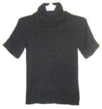 ANN TAYLOR LOFT Black Rabbit Hair Turtleneck Mock Neck Knit Sweater Top Shirt XS