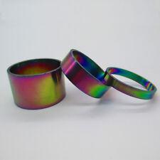 "Rainbow Mountain Bike Stem Spacer Titanium Headset/stem 1-1/8"" 3pcs(5-10-20mm)"