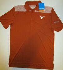 New w/ tags University of Texas Longhorns men Small polo golf shirt Columbia $70