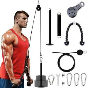Pulley Cable Workout System DIY Loading Pin Lifting Triceps Rope Machine