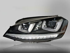 HID Headlights for 2014-2017 Golf MK7 TSI With Bi-xenon Projector and DRL