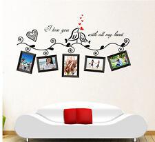 Love Birds Photo Frame Removable Vinyl Art Wall Sticker Decal Mural Home Decor