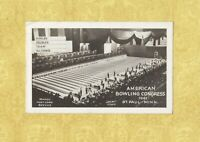 MN St. Paul 1941 RPPC real photo postcard AMERICAN BOWLING CONGRESS sports