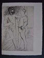 PABLO PICASSO Le Banquet Grace et mouvement 1943 signiert Probedruck