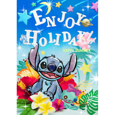 Disney Stitch Enjoy Holiday Happy Summer 3D Lenticular Card  - Christmas Gift
