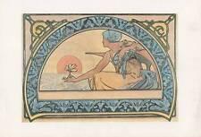 """VINTAGE ART NOUVEAU """"Mucha 'Stampa' Nenuphar 1898'"""