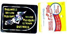 Vintage Prismatic sticker 70's Business Before Pleasure Pinup Van Vanner Biker