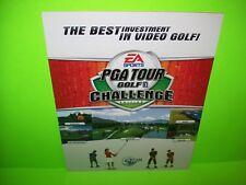Global VR PGA Tour Golf Challenge Original Video Arcade Game Flyer EA Sports