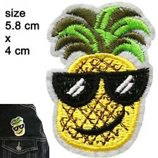 Cool Pineapple Iron on patch - tropical fruit sunglasses ananas iron-on patches