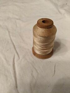 Ecru Pure Silk Machine Thread Holland Manufacturer Not A Full Spool