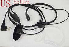 Throat Mic Earpiece/Headset For Motorola Radio Walkie Talkie AXU4100 CLS1110