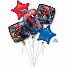 Spider-Man Happy Birthday Balloon Bouquet - Assorted Foil