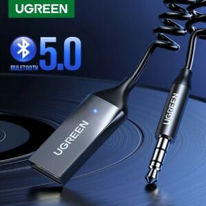 Ugreen Wireless Bluetooth 5.0 Receiver Dongle Car AUX 3.5mm Adapter Cable