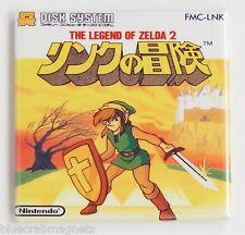 Legend of Zelda 2 Famicom FRIDGE MAGNET (2 x 2 inches) video game box japan