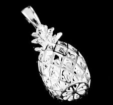 STERLING SILVER 925 LARGE 3D HAWAIIAN PINEAPPLE PENDANT