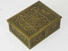 ANTIQUE Grand Tour JEWEL CASKET GERMAN ERHARD & SOHNE BRONZE DRESSER BOX CHERUBS