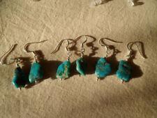 Echter Edelsteine-Ohrschmuck mit Türkis und Hakenverschluss für Damen