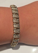 NEW! 2.00 Ct White Diamond, 18K Yellow Gold S Link Tennis Bracelet - 7.25 Inches