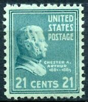 SCOTT # 826  - ONE 21 CENT C. A. ARTHUR SYAMP - VF - UNUSED - OG - NH - MINTT