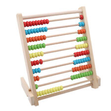 Wooden Kids Mini Counting Bead Abacus Early Educational Frame Maths Toy Z