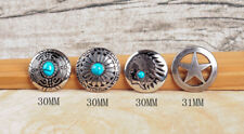 4 STYLES SILVER TURQUOISE STAR SCREW BACK HANDMADE CONCHOS FOR LEATHERCRAFT BELT