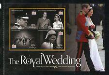 GUYANA   ROYAL WEDDING OF PRINCE WILLIAM & KATE MIDDLETON IMPERF SHEET I MINT NH
