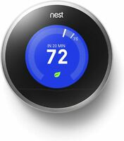 NEW Nest 2nd Generation Learning Silver Programmable Thermostat NO BASE