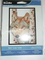 "BUCILLA Counted Cross Stitch Kit - WOLF - 5"" x 7"""