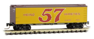 Micro-Trains MTL Z-Scale Heinz Yellow Car #4 36ft Wood Reefer 57 Varieties #466