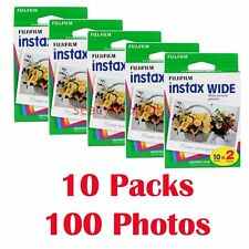 10 Packs FujiFilm Instax Wide Film,100 Sheets Fuji Instant Photos 210 300