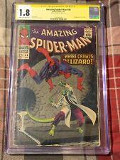 Amazing SPIDER MAN 44 CGC SS 1.8 Stan Lee Auto 2nd Lizard Romita art 1/1967