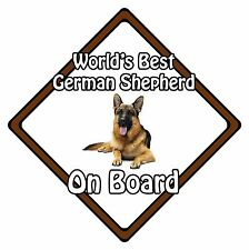 Non Personalised Dog On Board Car Safety Sign - World's Best German Shepherd