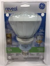 Floodlight GE Reveal 26W CFL Light Bulb R40 Reflector 1150 Lumens  9 Year 61355