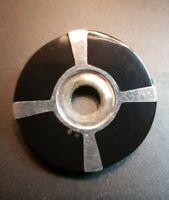 925 STERLING SILVER LARGE ROUND BLACK ONYX OPEN UNIQUE DESIGN PENDANT 20 G