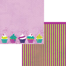 Moxxie - Sweet Treat Scrapbooking Paper - WB-1574 Birthday Cupcakes